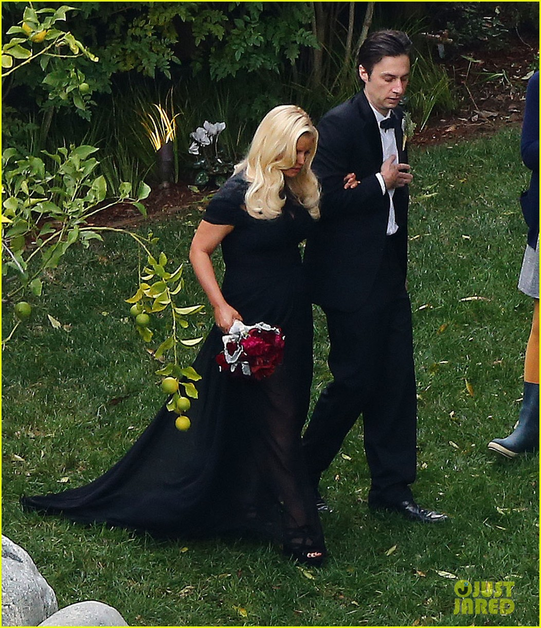 jessica simpson bridesmaid at cacee cobb wedding 202776624