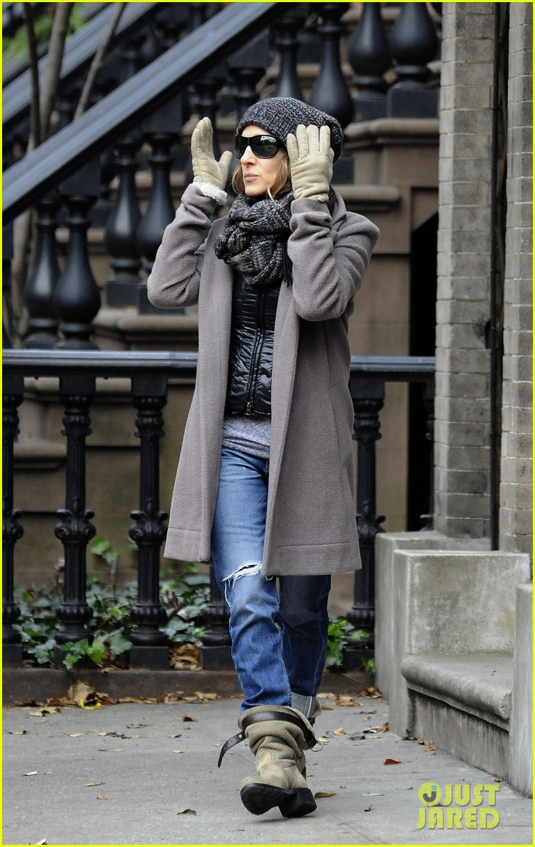 sarah jessica parker school stop with son james 01