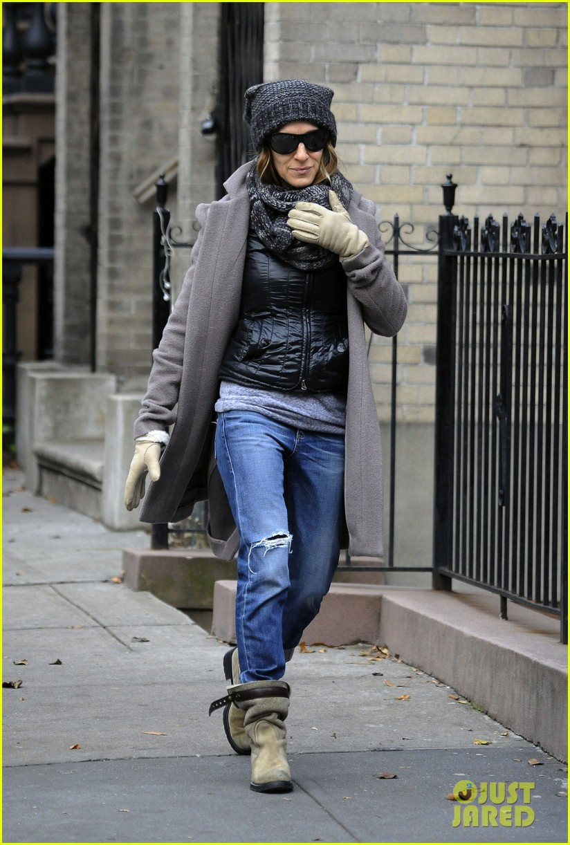 sarah jessica parker school stop with son james 03