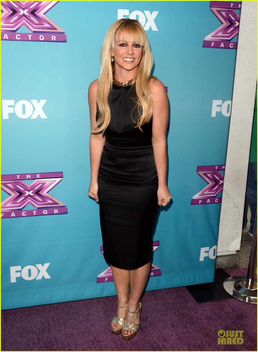 britney spears & demi lovato x factor finale conference 072777430
