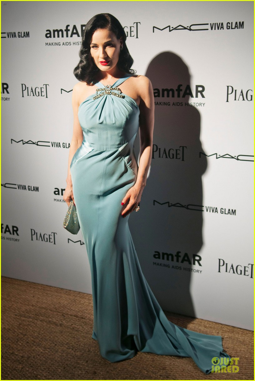 dita von teese amfar inaugural benefit 01