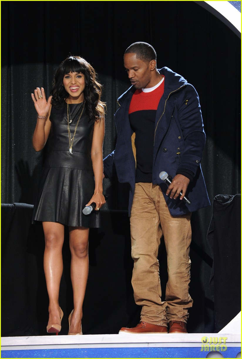 kerry washington & jamie foxx 106 & park appearance 012776275