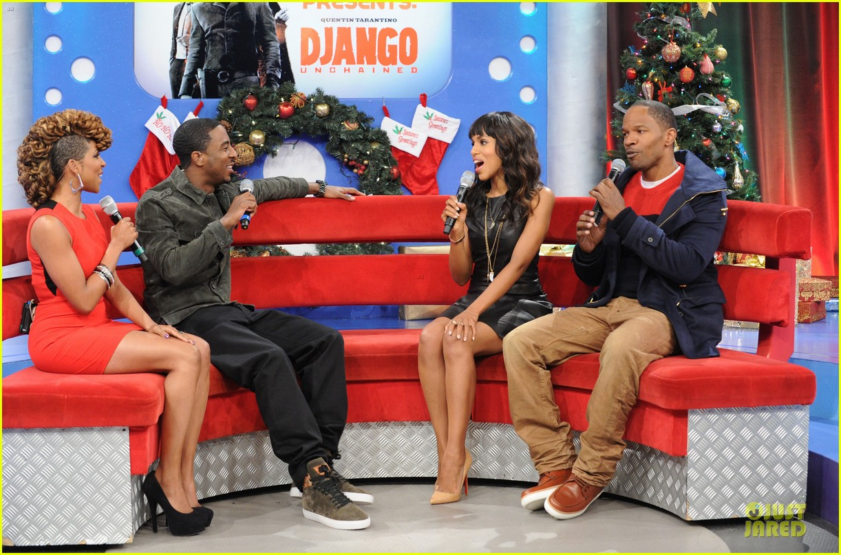 kerry washington & jamie foxx 106 & park appearance 072776281