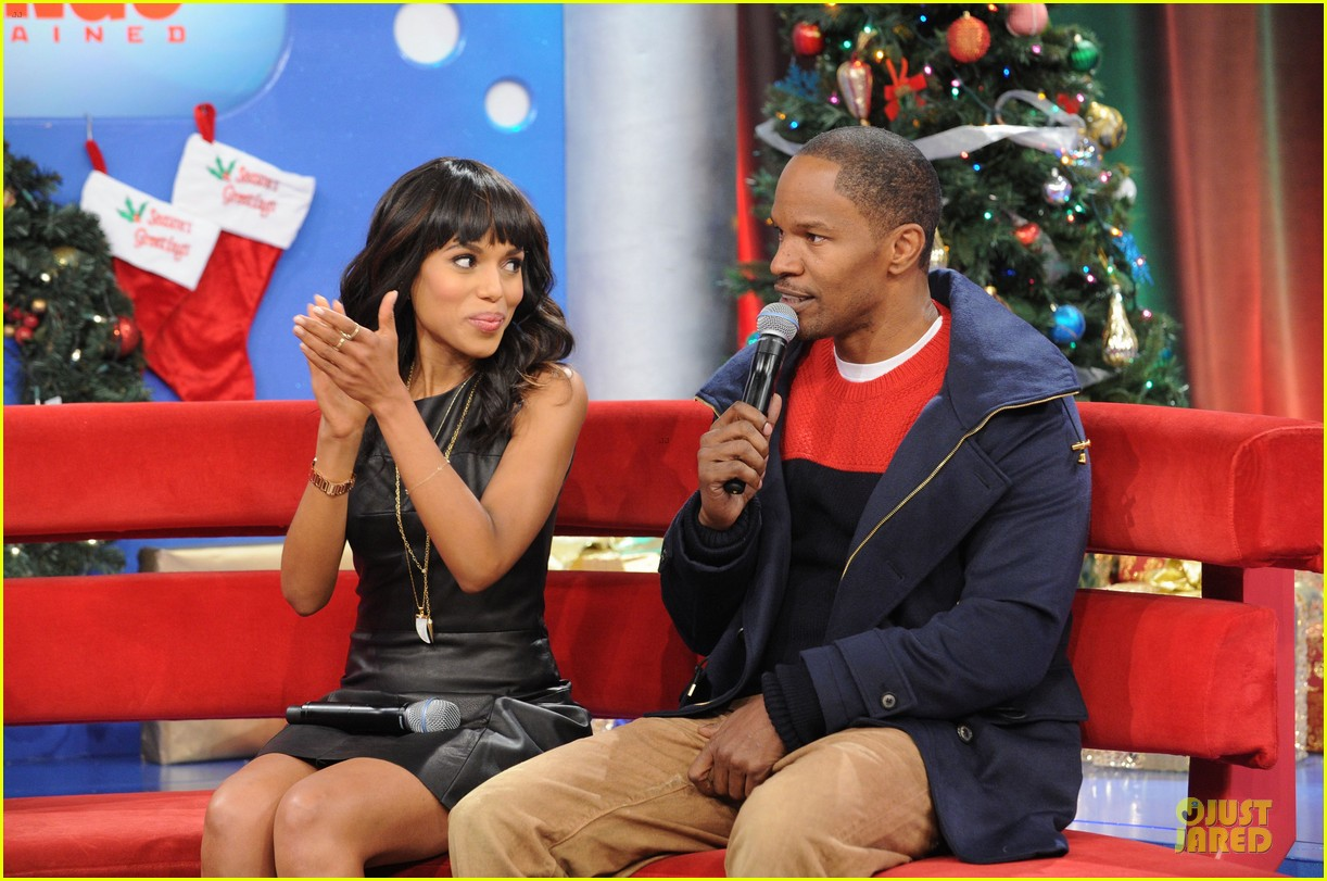 kerry washington & jamie foxx 106 & park appearance 17