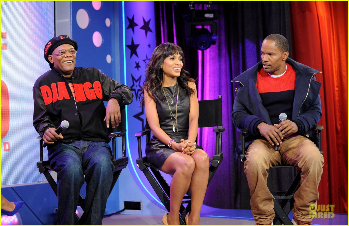 kerry washington & jamie foxx 106 & park appearance 27