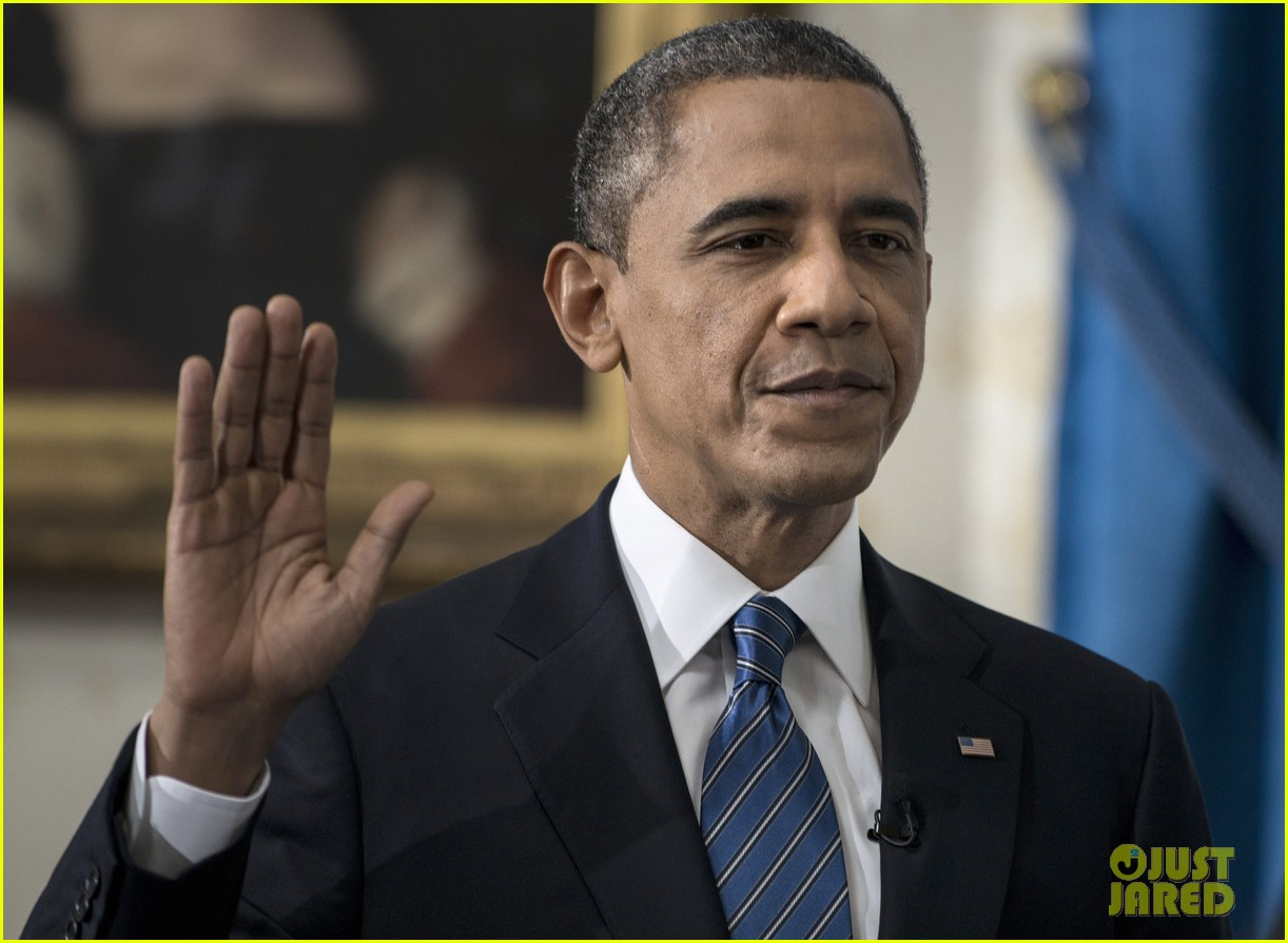 president barack obama sworn into office launches second term 02