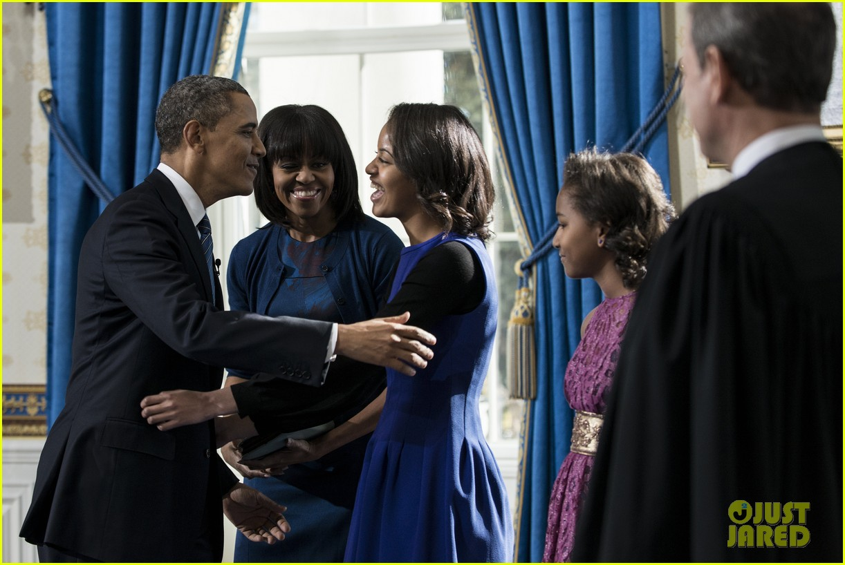 president barack obama sworn into office launches second term 09