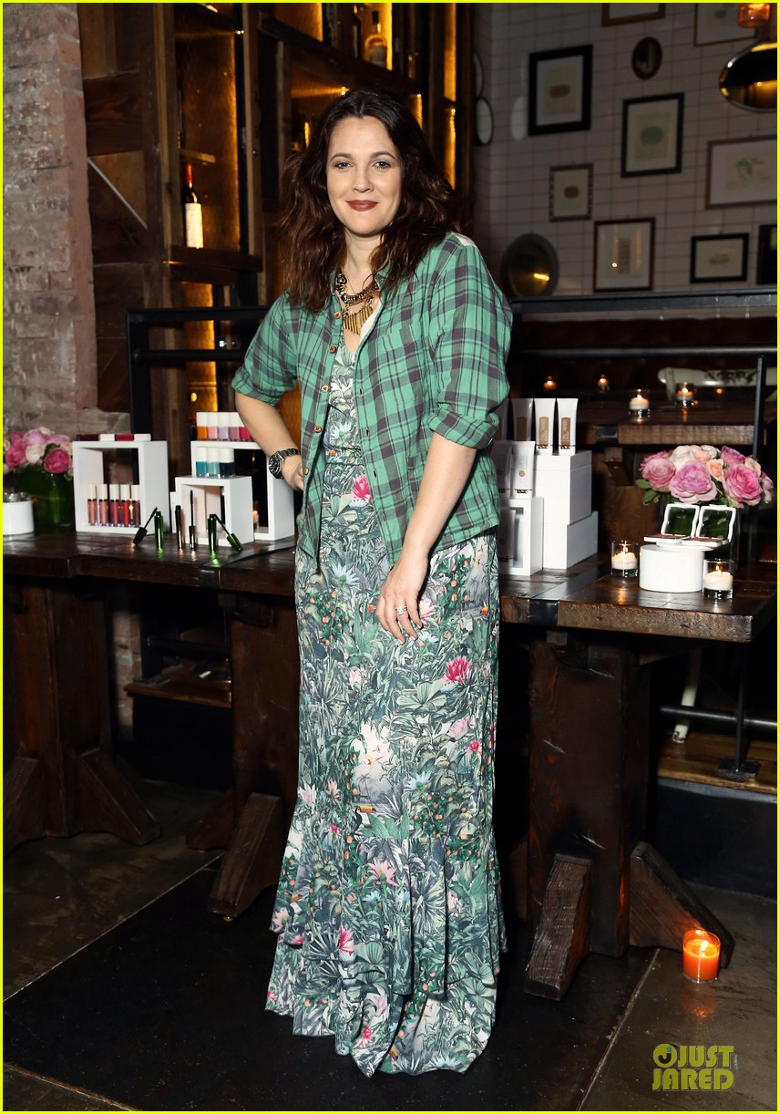 drew barrymore will kopelman flower launch party 05