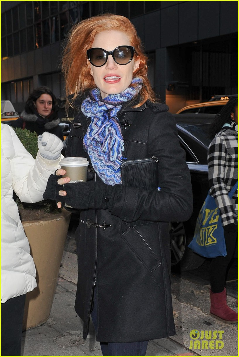 jessica chastain consoles crying fan at the heiress 11
