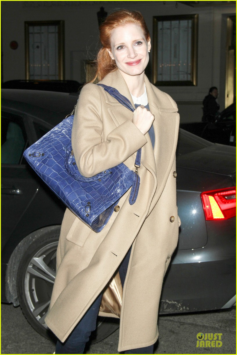 jessica chastain late show with david letterman appearance next week 10