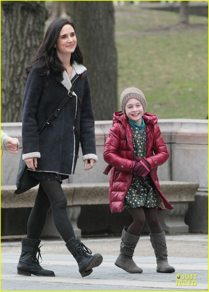 jennifer connelly agnes visits winters tale set 122792547