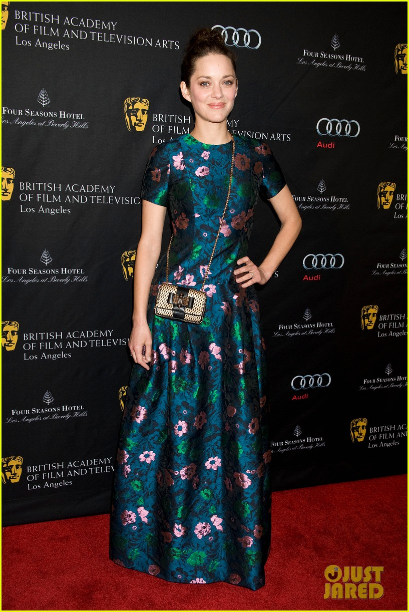 Marion Cotillard wearing a cross body evening bag on the Red Carpet