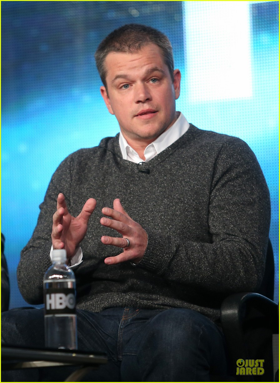matt damon & michael douglas behind the candlebra tca panel 172784994