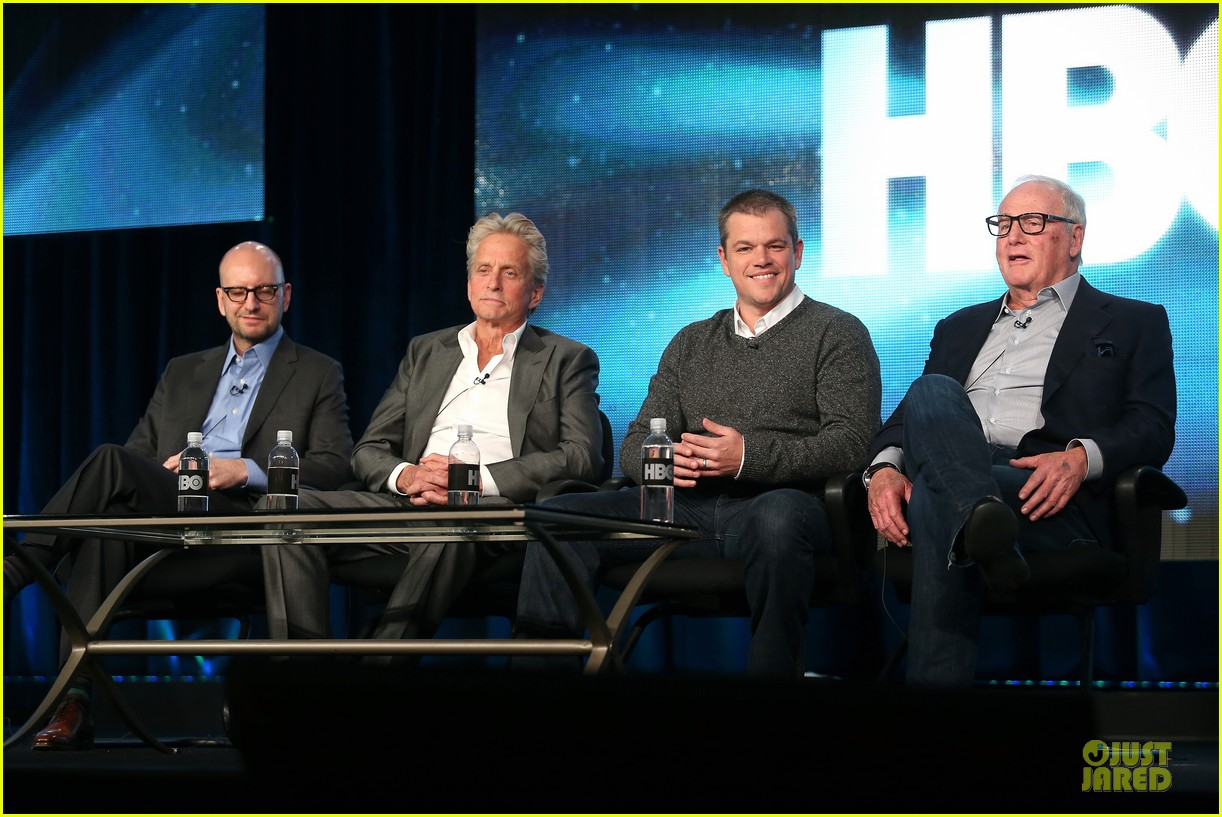 matt damon & michael douglas behind the candlebra tca panel 19