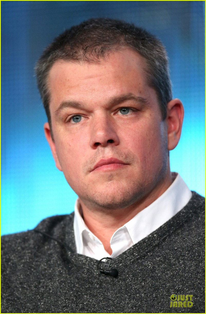 matt damon & michael douglas behind the candlebra tca panel 22