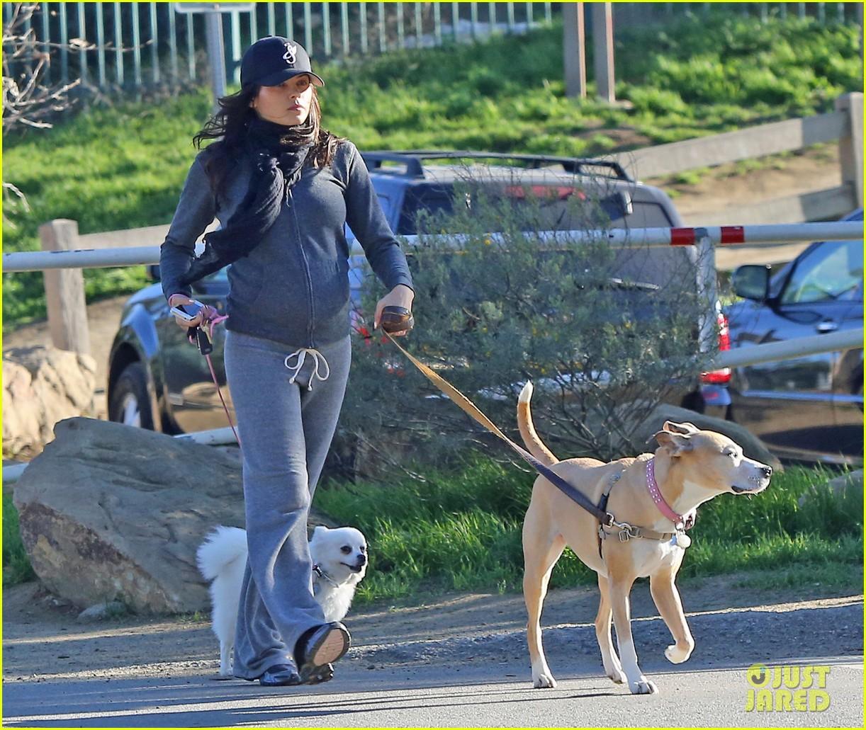 jenna dewan shows off growing baby bump on dog walk 06