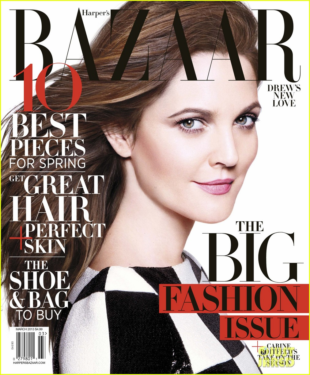 Drew Barrymore wearing Louis Vuitton for Harper's Bazaar 2013