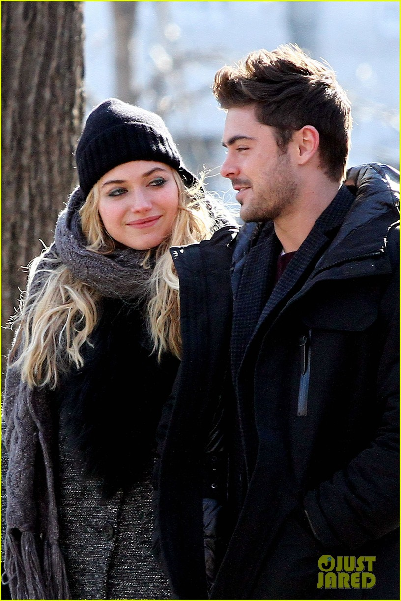 zac efron imogen poots park stroll for dating 04