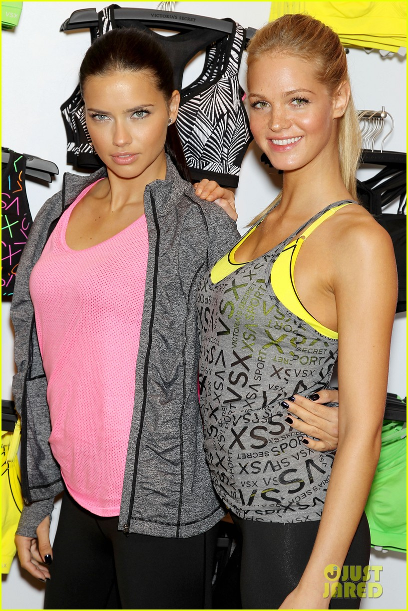 erin heatherton adriana lima victorias secret sport healthy year launch 28