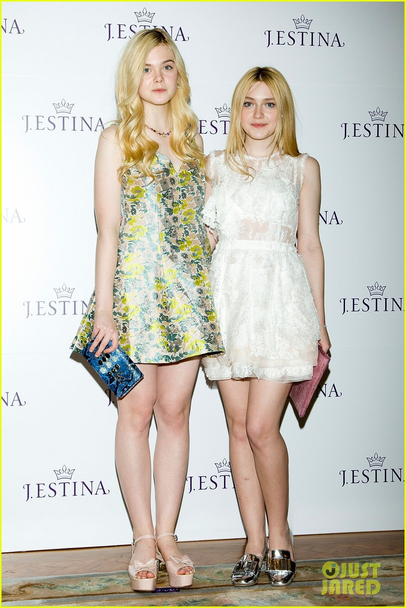 Elle Fanning Then And Now Fanning. elle towers over her