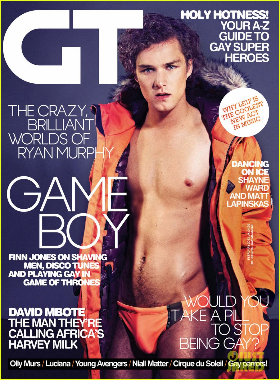 game of thrones finn jones shirtless speedo for gay times 02