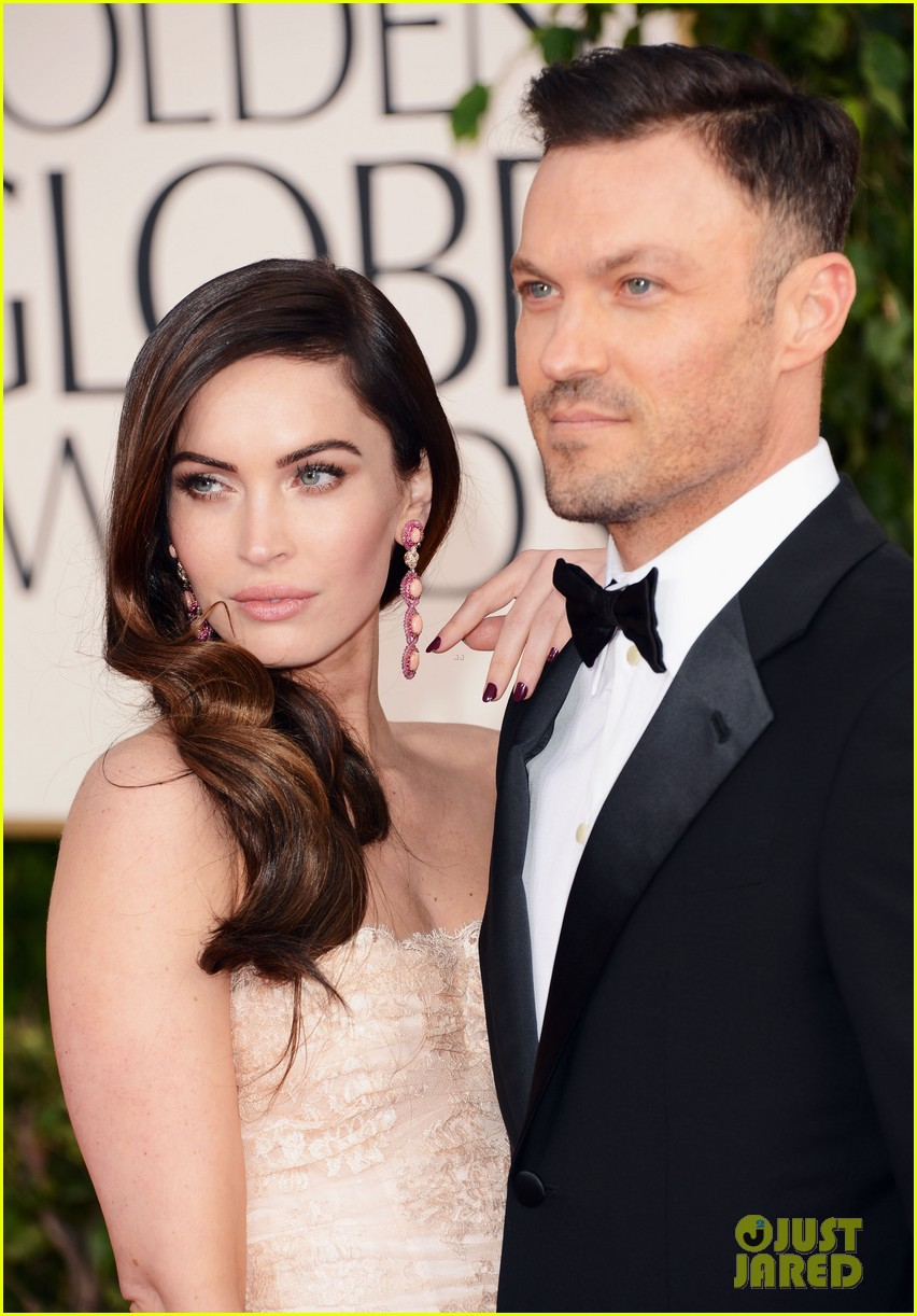 megan fox golden globes 2013 red carpet with brian austin green 022790845