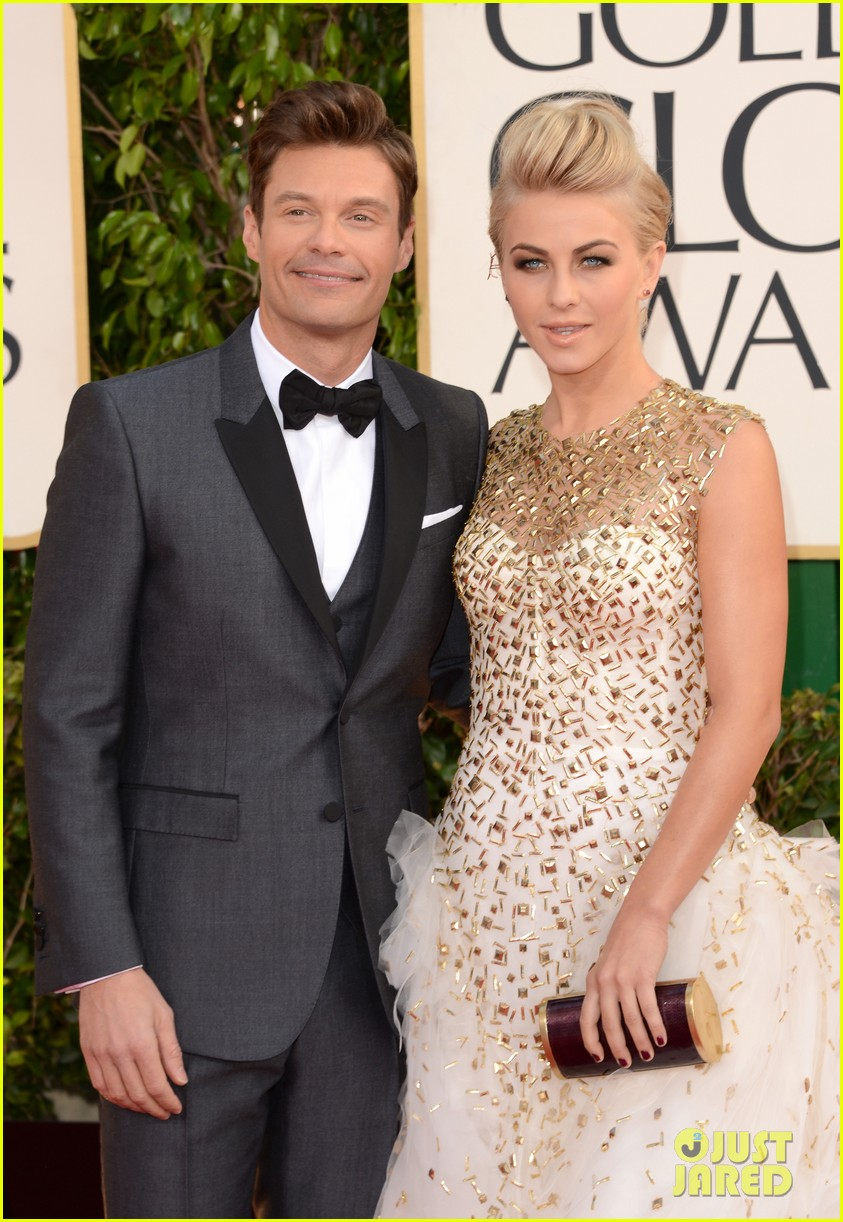 julianne hough ryan seacrest golden globes 2013 red carpet 04