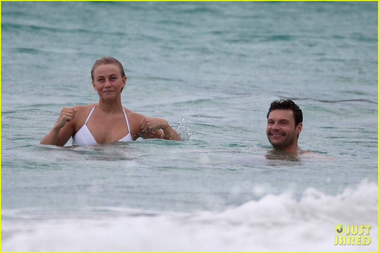 julianne hough bikini swimming with shirtless ryan seacrest 23
