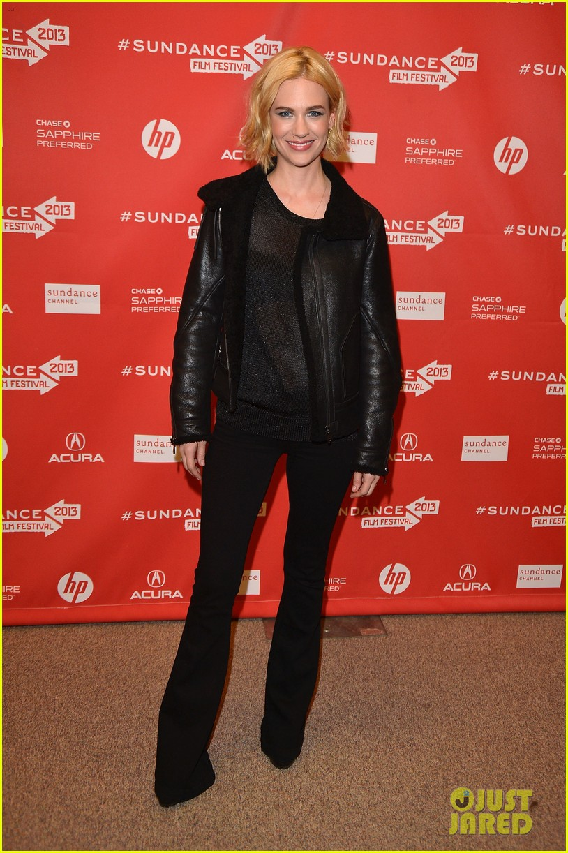 january jones sheer top at sweetwater sundance premiere 01