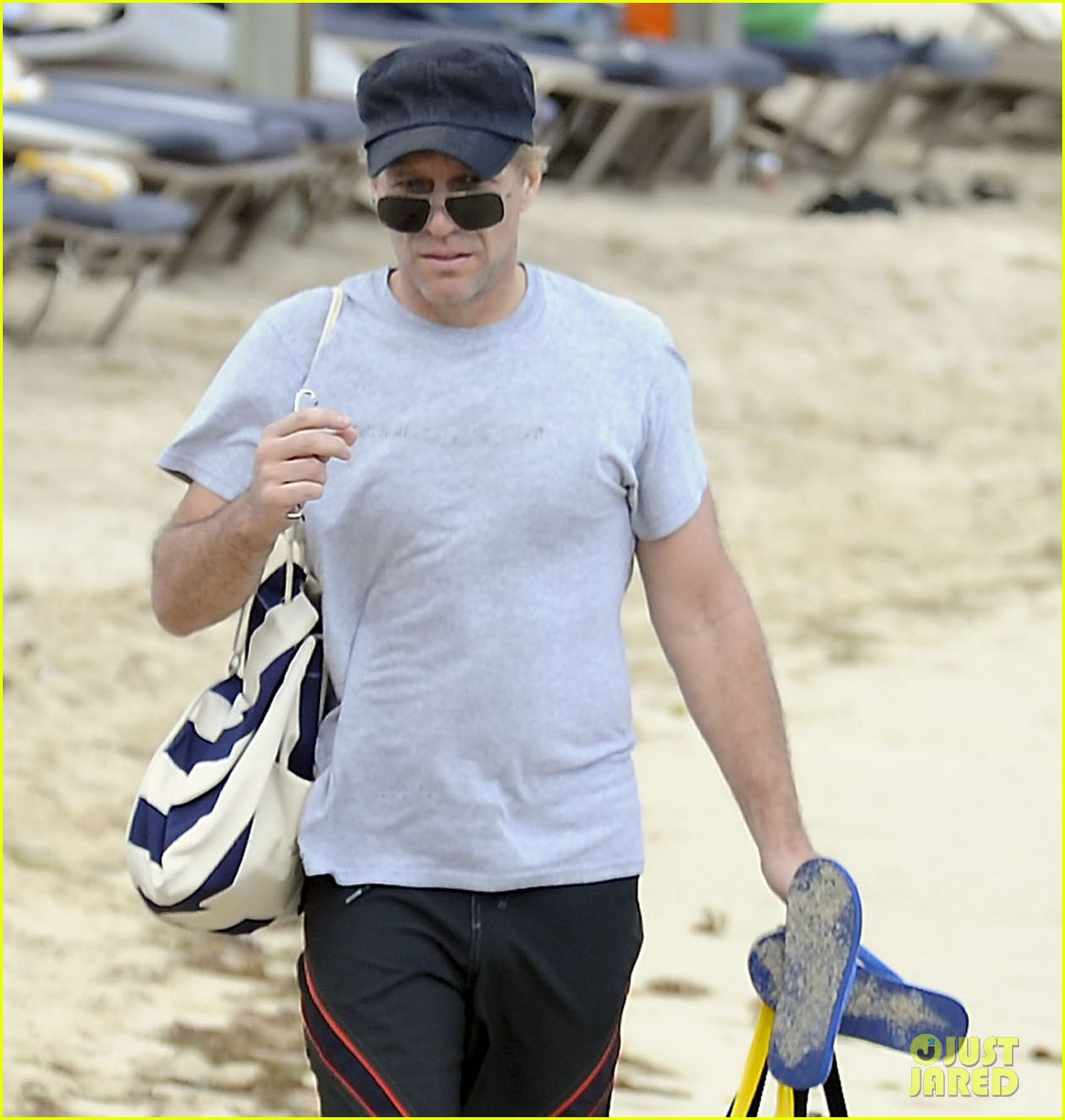 jon bon jovi shirtless sunbathing in st barts 122782966