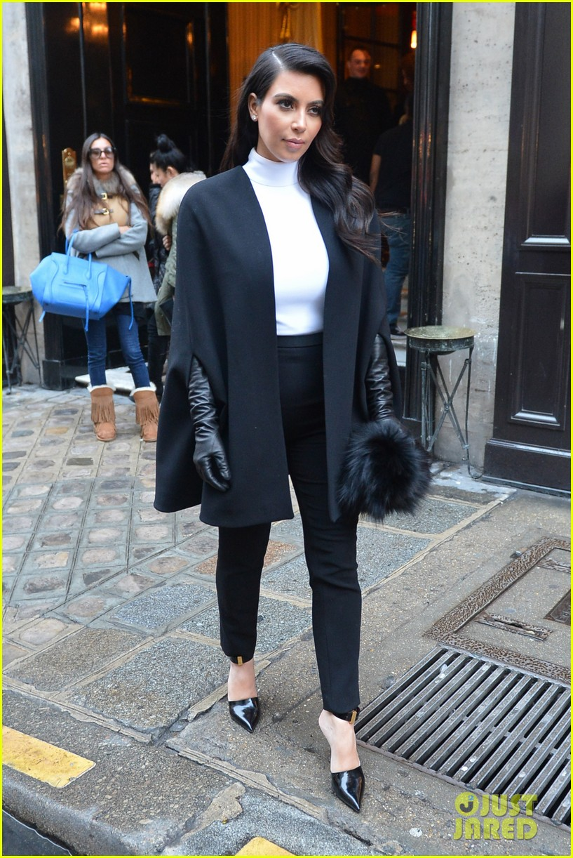 kim kardashian kanye west perfect night in paris 10
