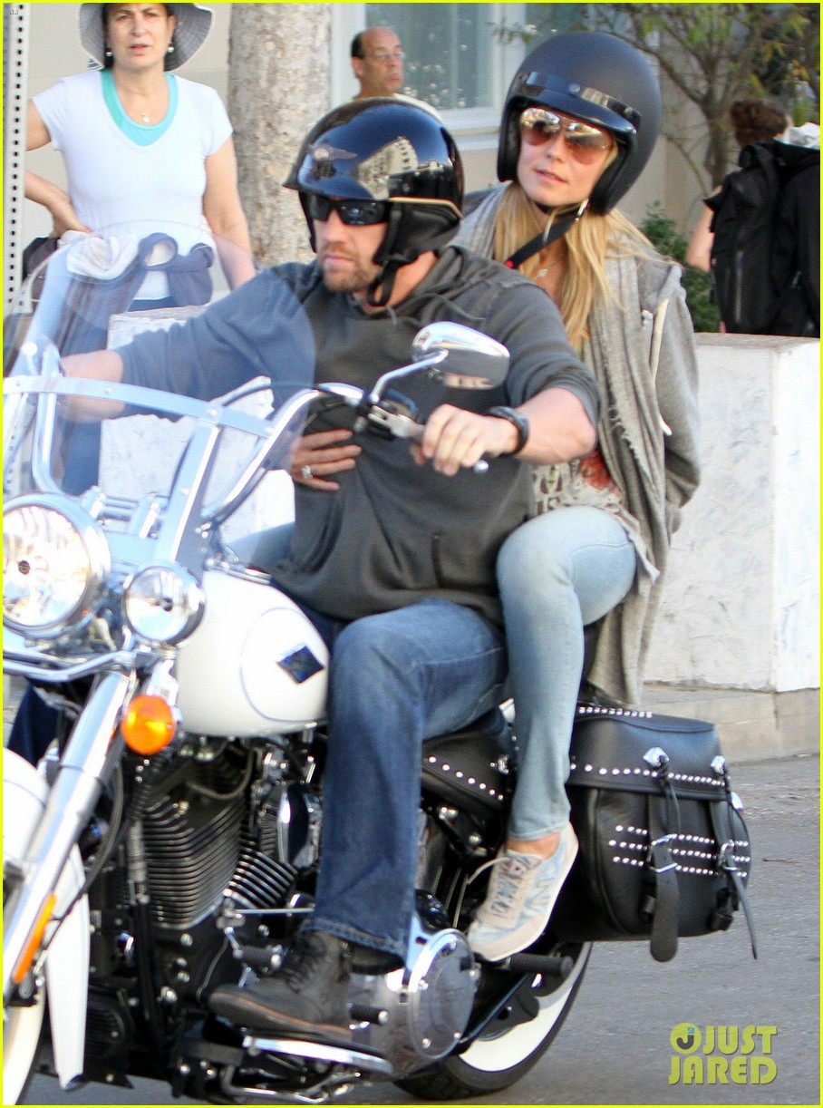 heidi klum martin kirsten motorcycle couple 20