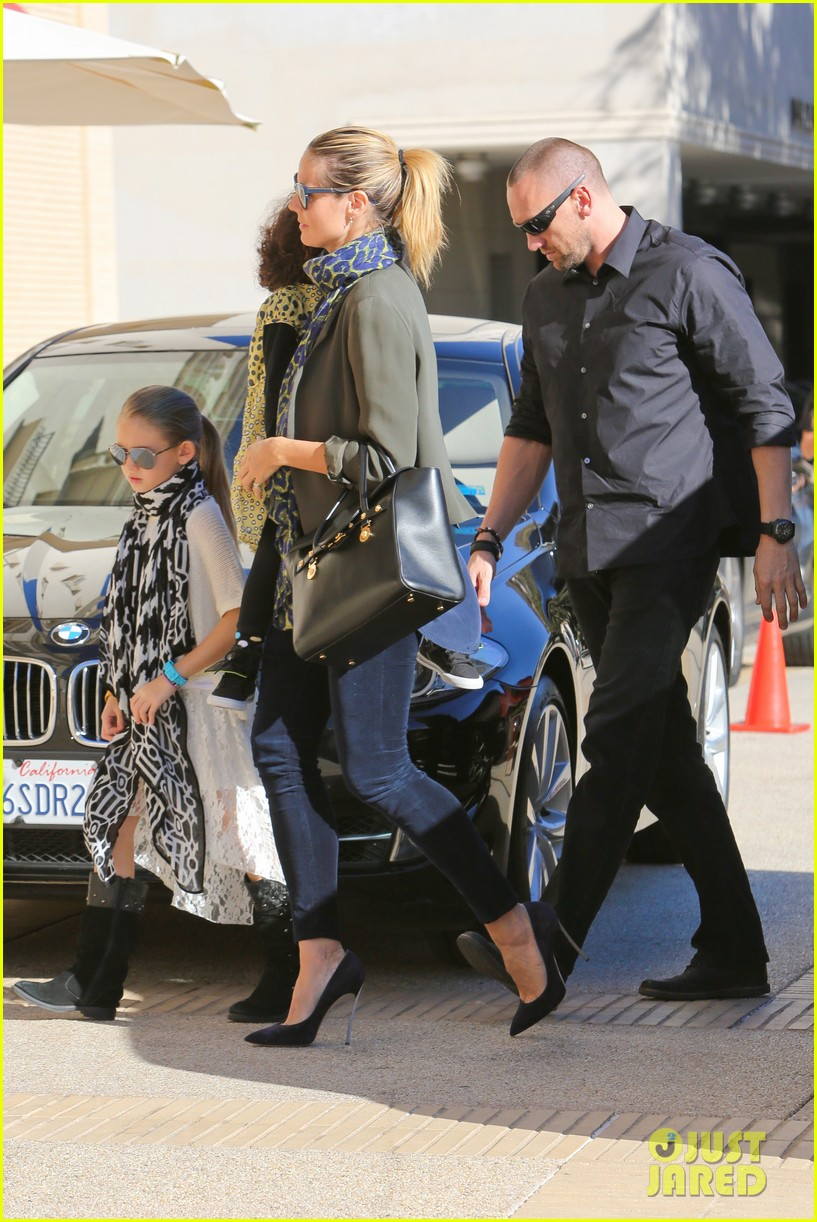 heidi klum martin kirsten lunch shopping with the girls 11