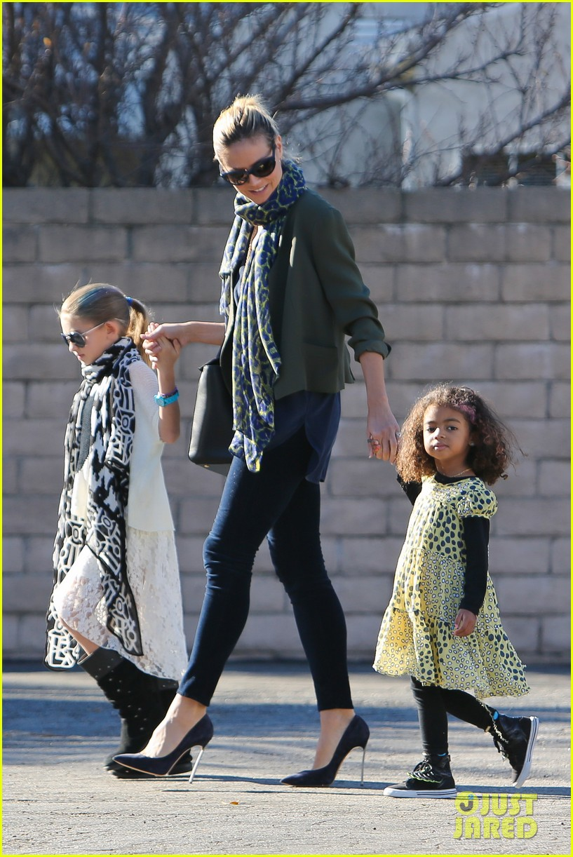 heidi klum martin kirsten lunch shopping with the girls 14