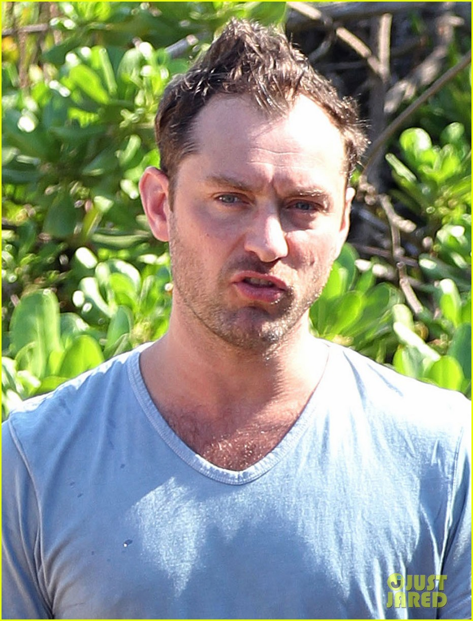 jude law maui beach stroll on new years eve 042783155