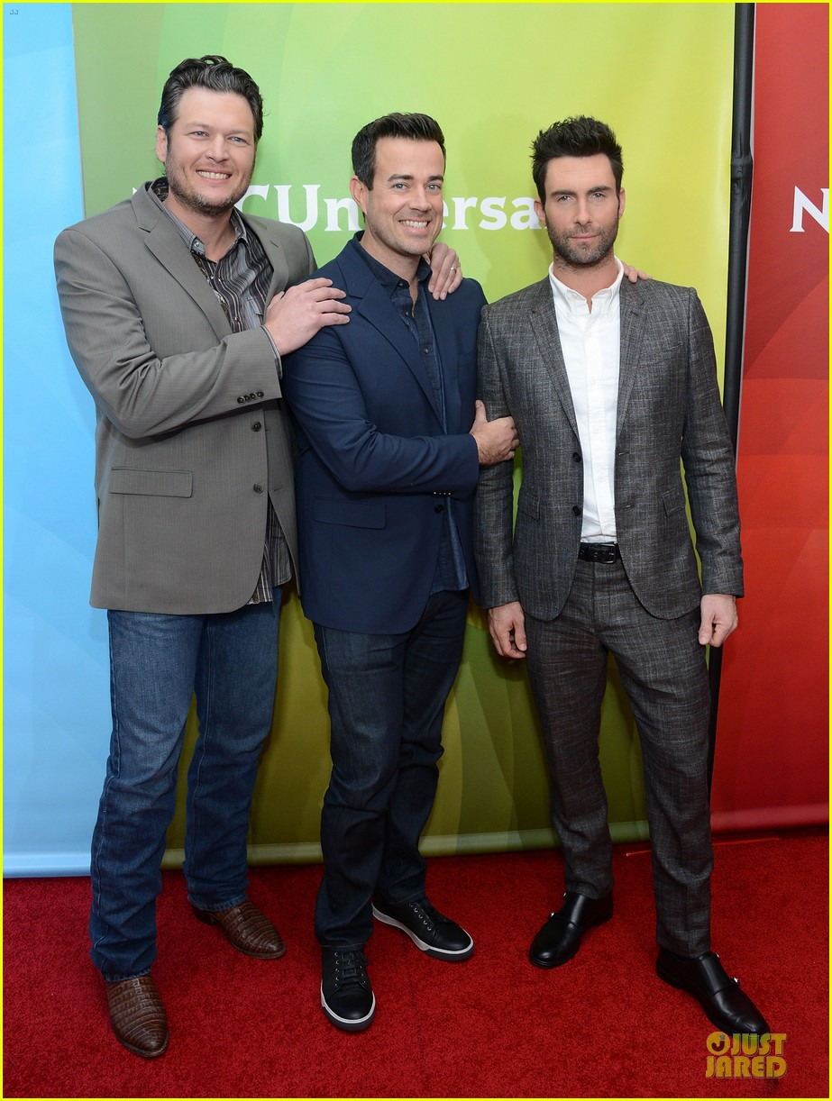 adam levine & blake shelton the voice tca press tour 032785926