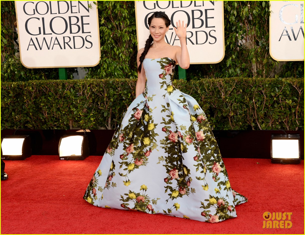 lucy liu golden globes 2013 red carpet 052791023