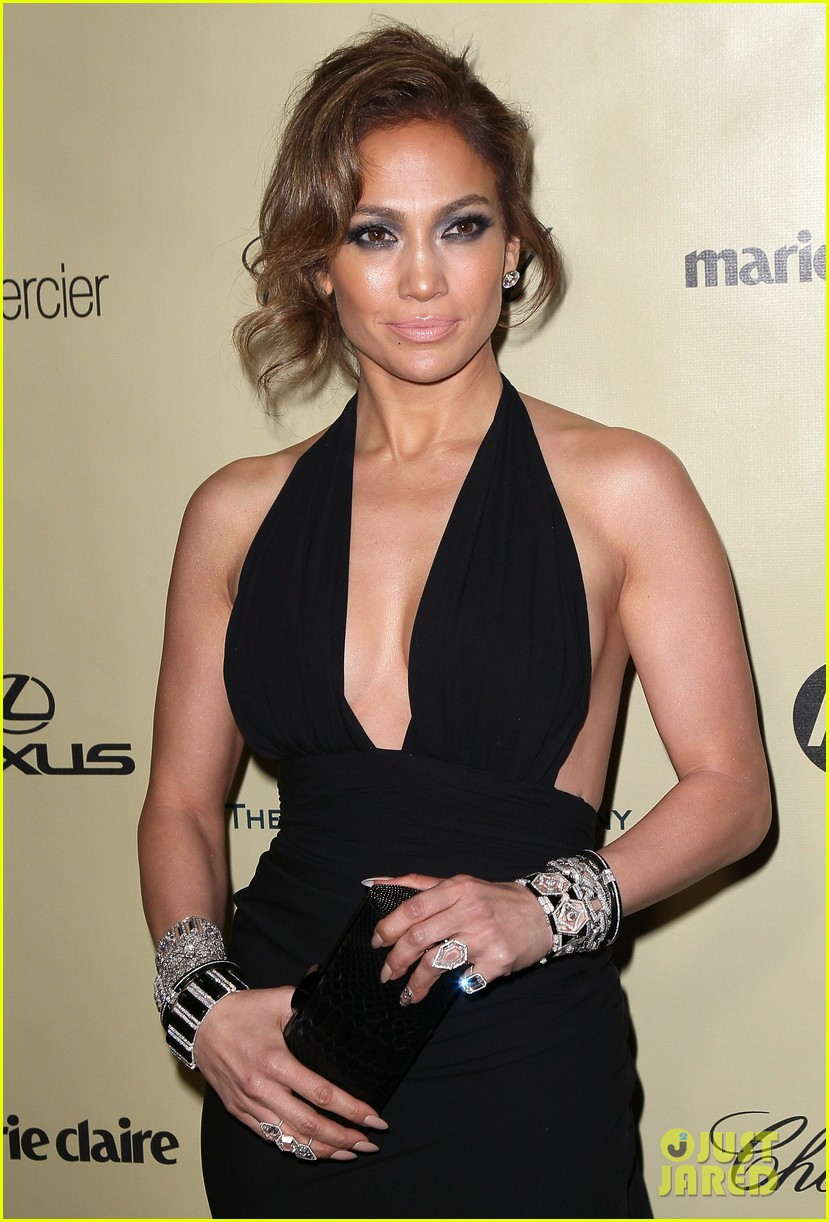 jennifer lopez casper smart golden globes parties 2013 12