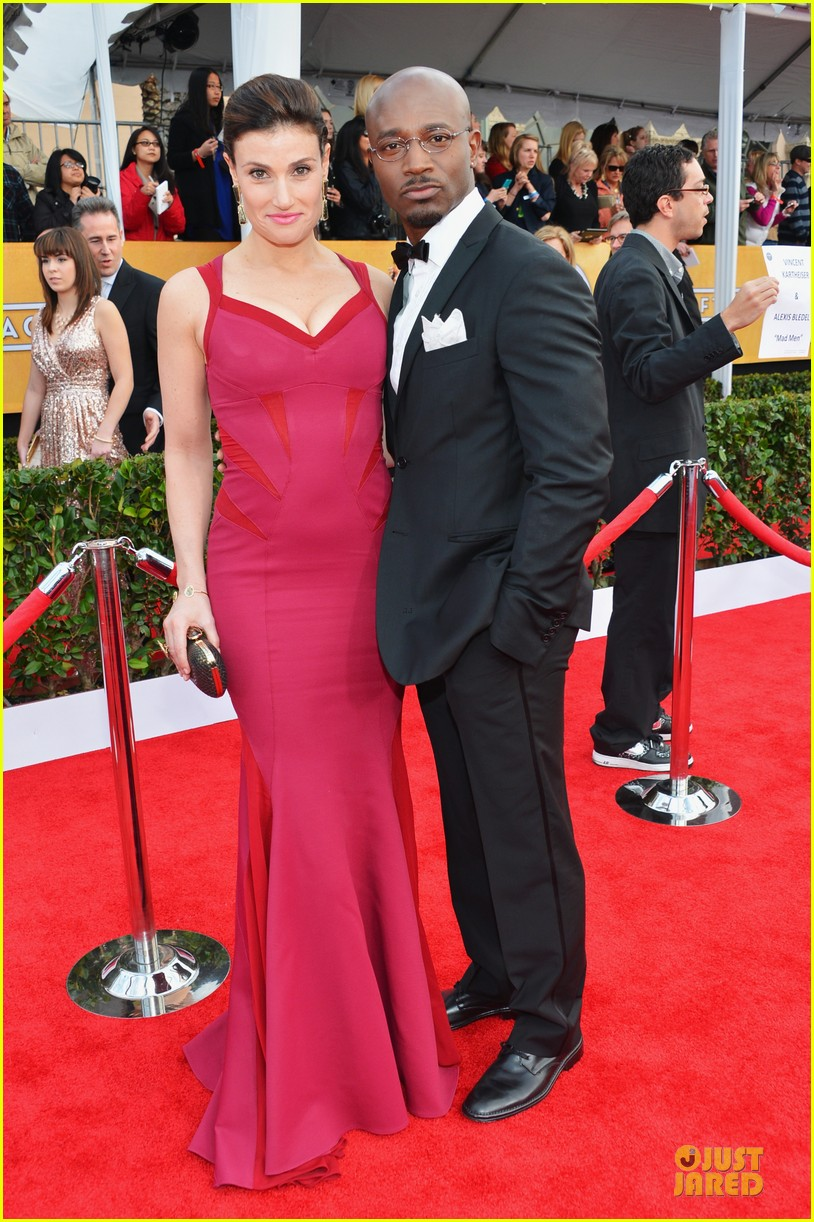 idina menzel taye diggs sag awards 2013 red carpet 032799910