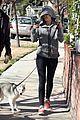 miley cyrus hoodie walk with pet pooch 06