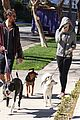 miley cyrus hoodie walk with pet pooch 09
