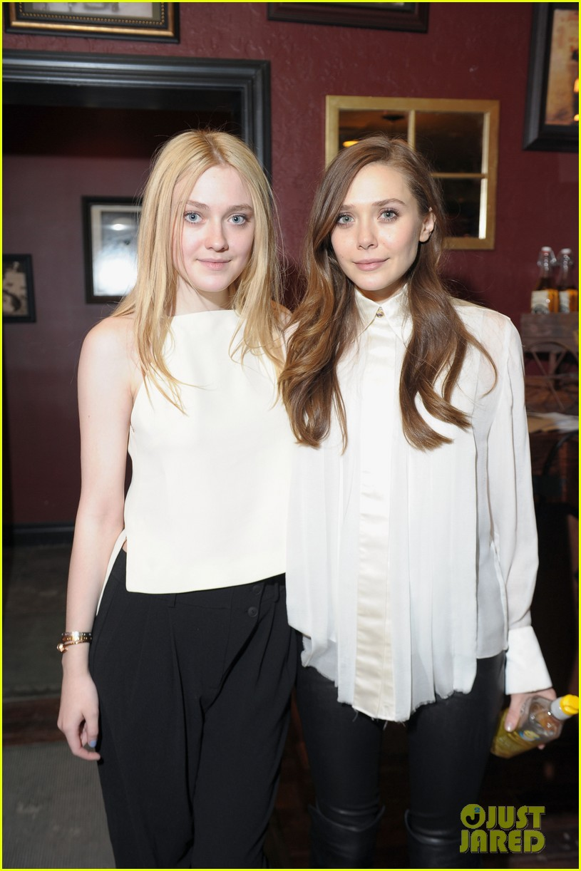 Photo of Elizabeth Olsen & her friend  Dakota Fanning