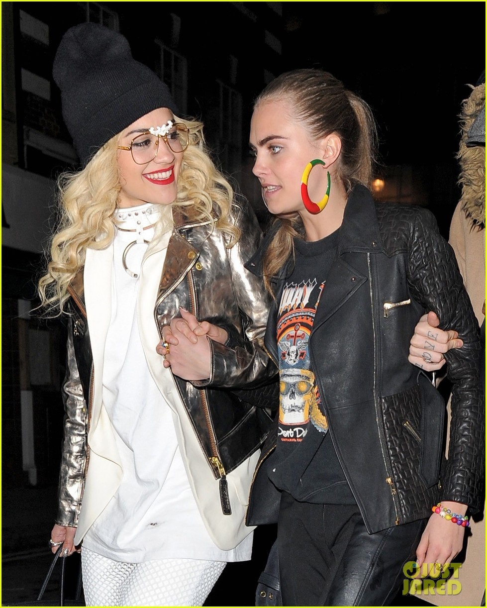 rita ora cara delevingne girls night out 06
