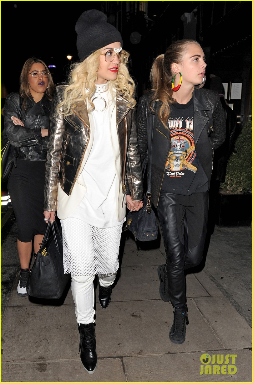 rita ora cara delevingne girls night out 09