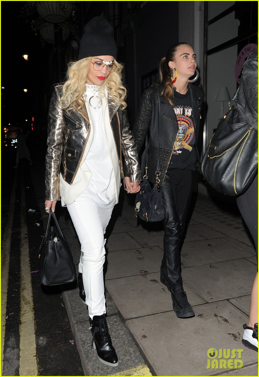 rita ora cara delevingne girls night out 10