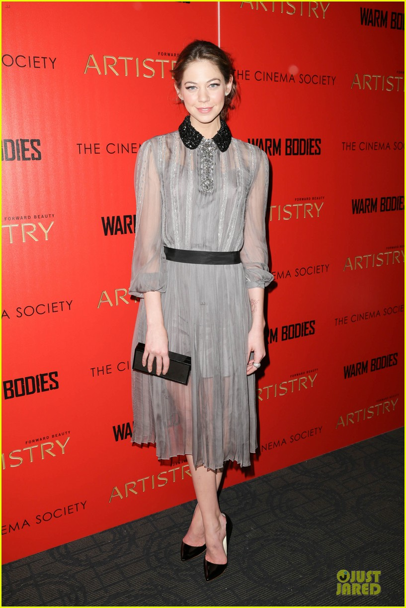 teresa palmer nicholas hoult warm bodies new york premiere 11
