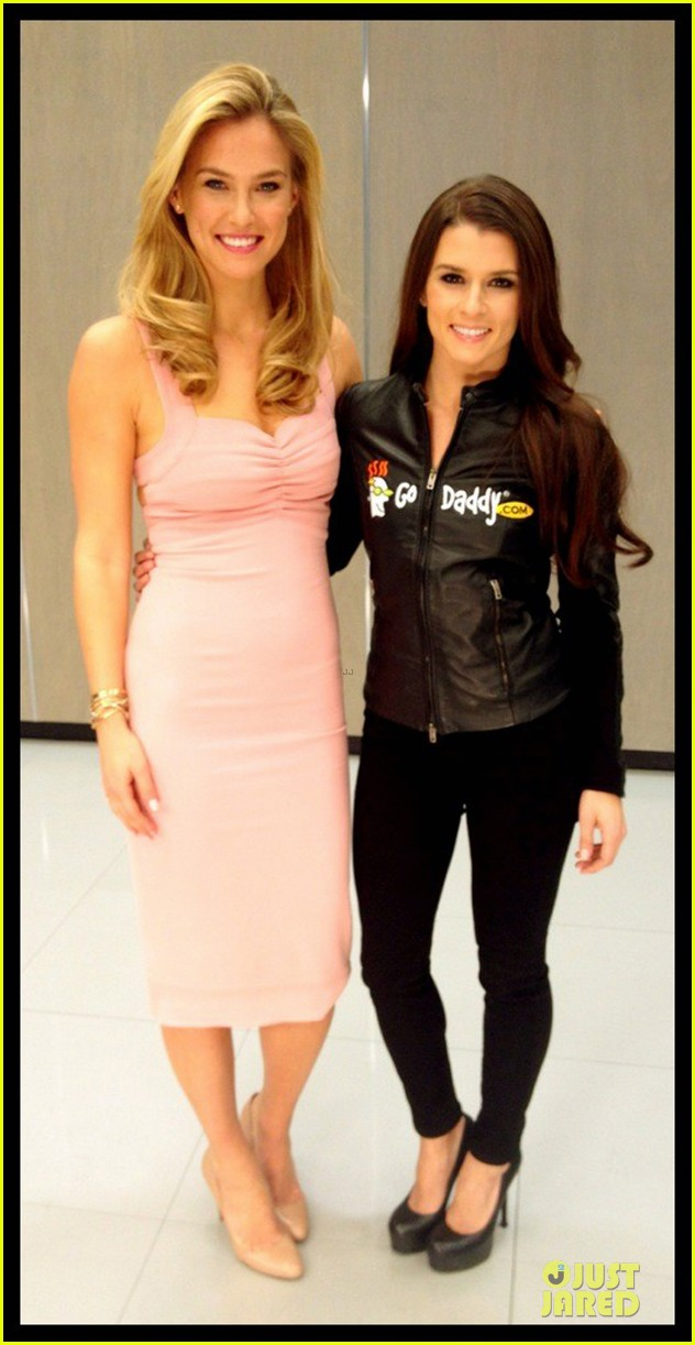 bar refaeli & danica patrick go daddy super bowl gals 05