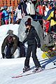 rosie huntington whiteley jason statham ski slope kisses 01