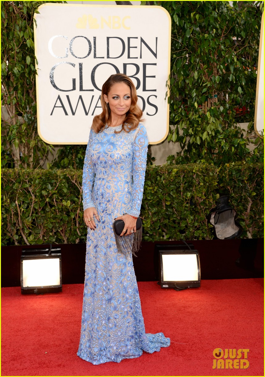 nicole richie golden globes 2013 red carpet 05