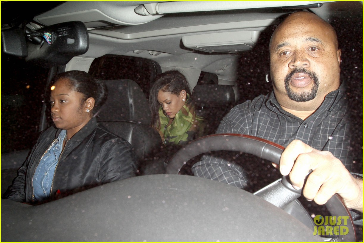 rihanna chris brown separate studio exits 182794201